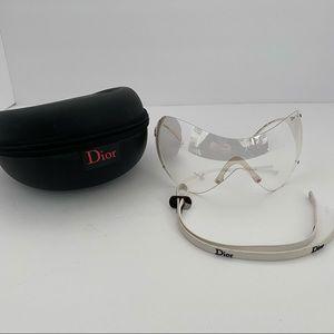 Dior Ski 1 Mask Sunglasses Vintage Y2K 2000s Clear Lenses Mask Sport Galliano